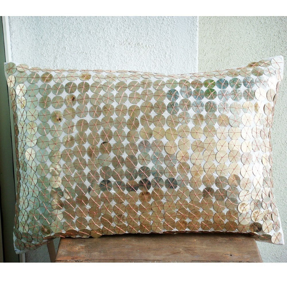 sparkling antique silver throw pillow covers by thehomecentric. Black Bedroom Furniture Sets. Home Design Ideas
