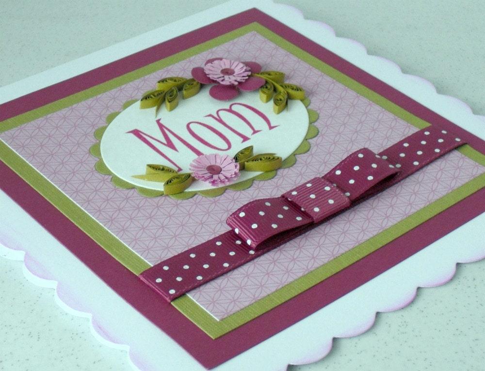 День рождения карта мама мама мама гофрированный рюш - можно персонализировать с любым именем