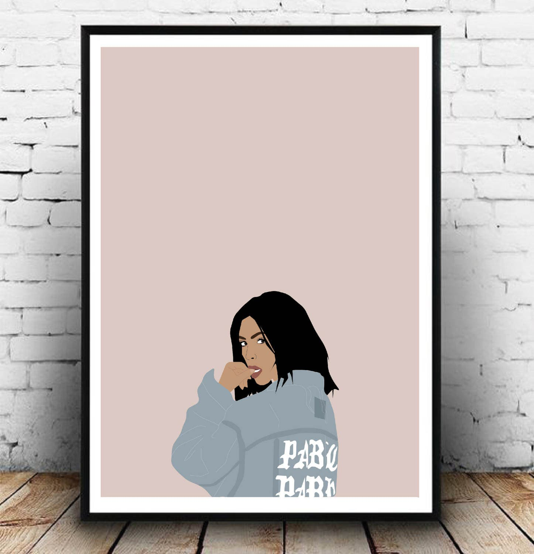 Kim Kardashian Life of pablo poster Kim kardashian kanye west print Perfect gift idea for a kardashian fan! A3 Fashion Kim Kardashian art