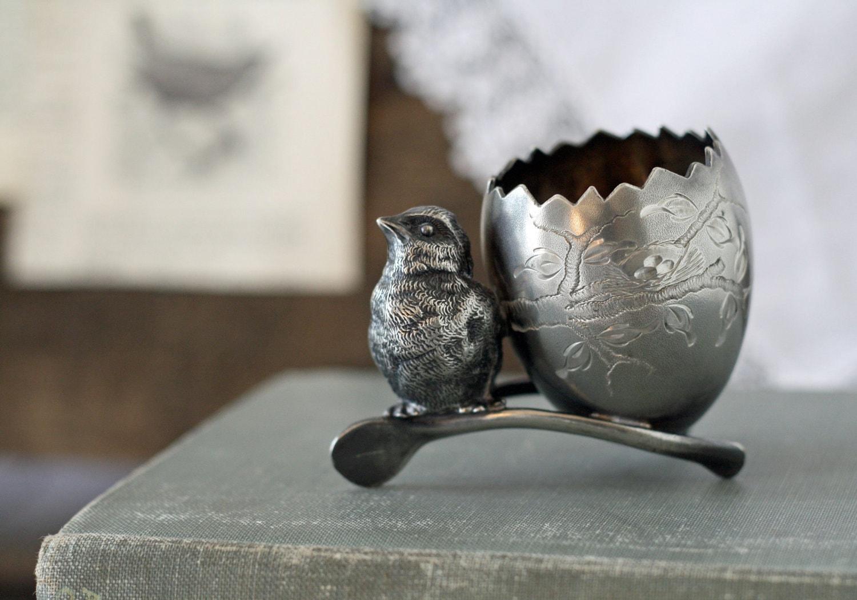 Items similar to antique victorian silverplate figural bird toothpick holder circa 1900 39 s - Bird toothpick holder ...