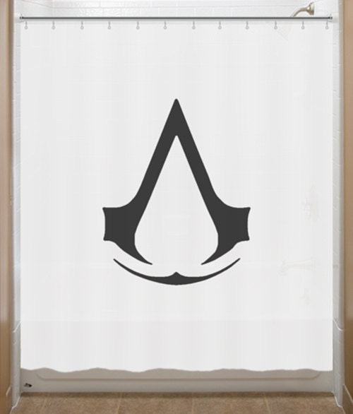 Assassin s creed shower curtain insignia order by showercurtains