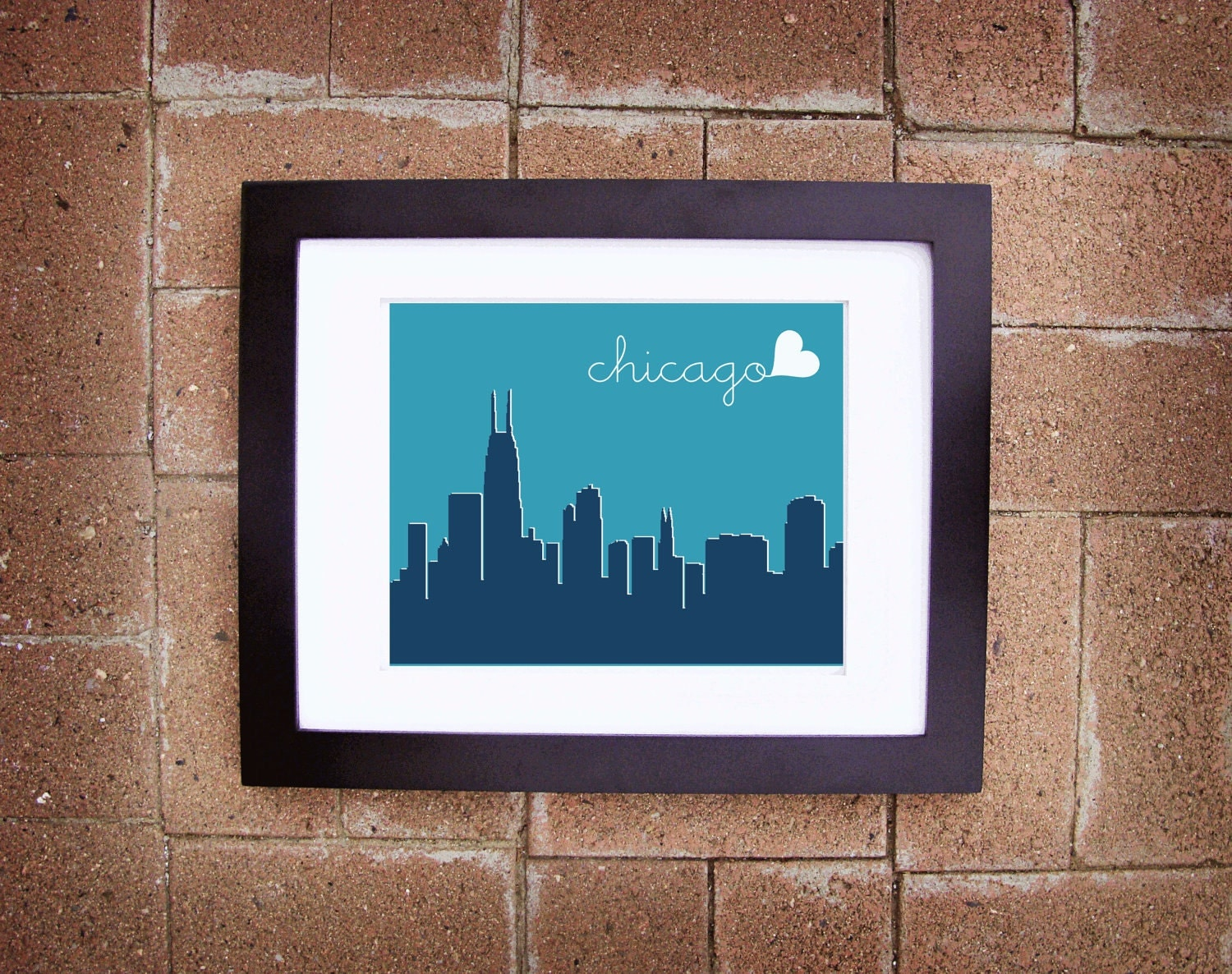 Modern Chicago Skyline Print - Printable 8x10