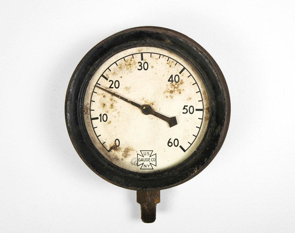 Vintage 1930's Industrial U.S. Gauge Company Gauge