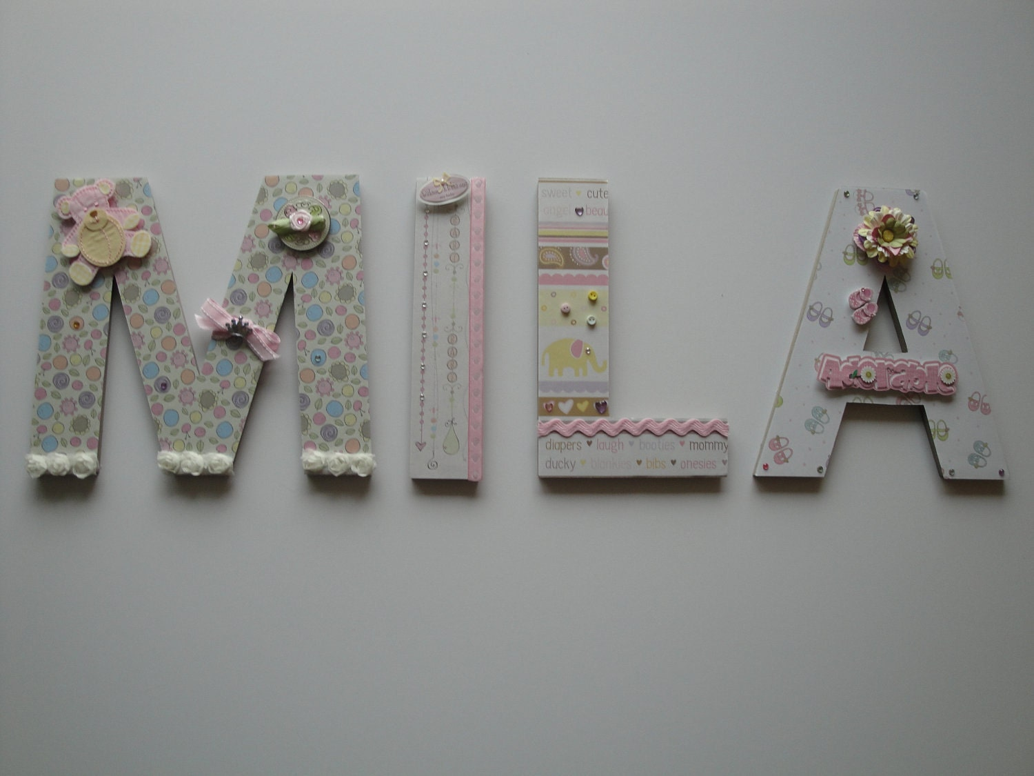 Baby room decorations letters photograph baby nursery lett for Baby nursery letters