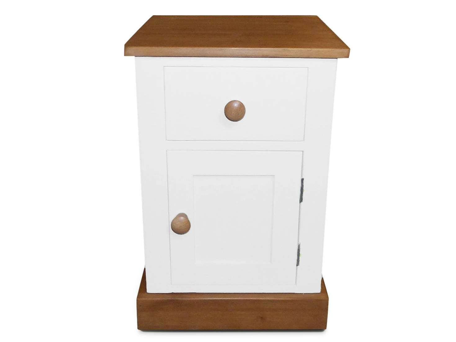 Handmade Farrow and Ball Solid Pine 1 Drawer Bedside Table Chest With Cupboard