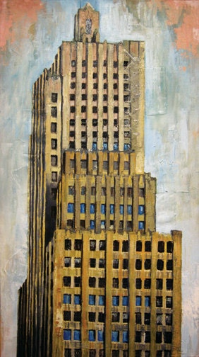 "Kansas City Digital Art Print ""Kansas City Power & Light Building"" 11x17 - MattKube"