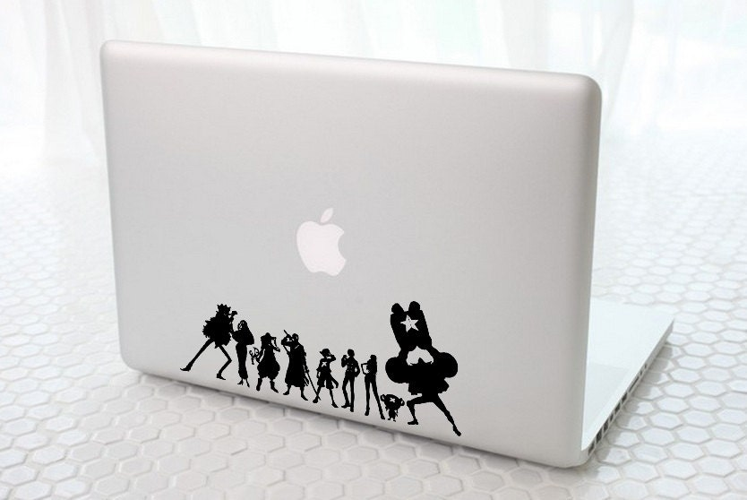 One Piece Team 3 Anime Decal for Macbook, Laptop, iPad, iPhone, Car, Windows, Wall, Nintendo 3ds, XBox, Playstation etc