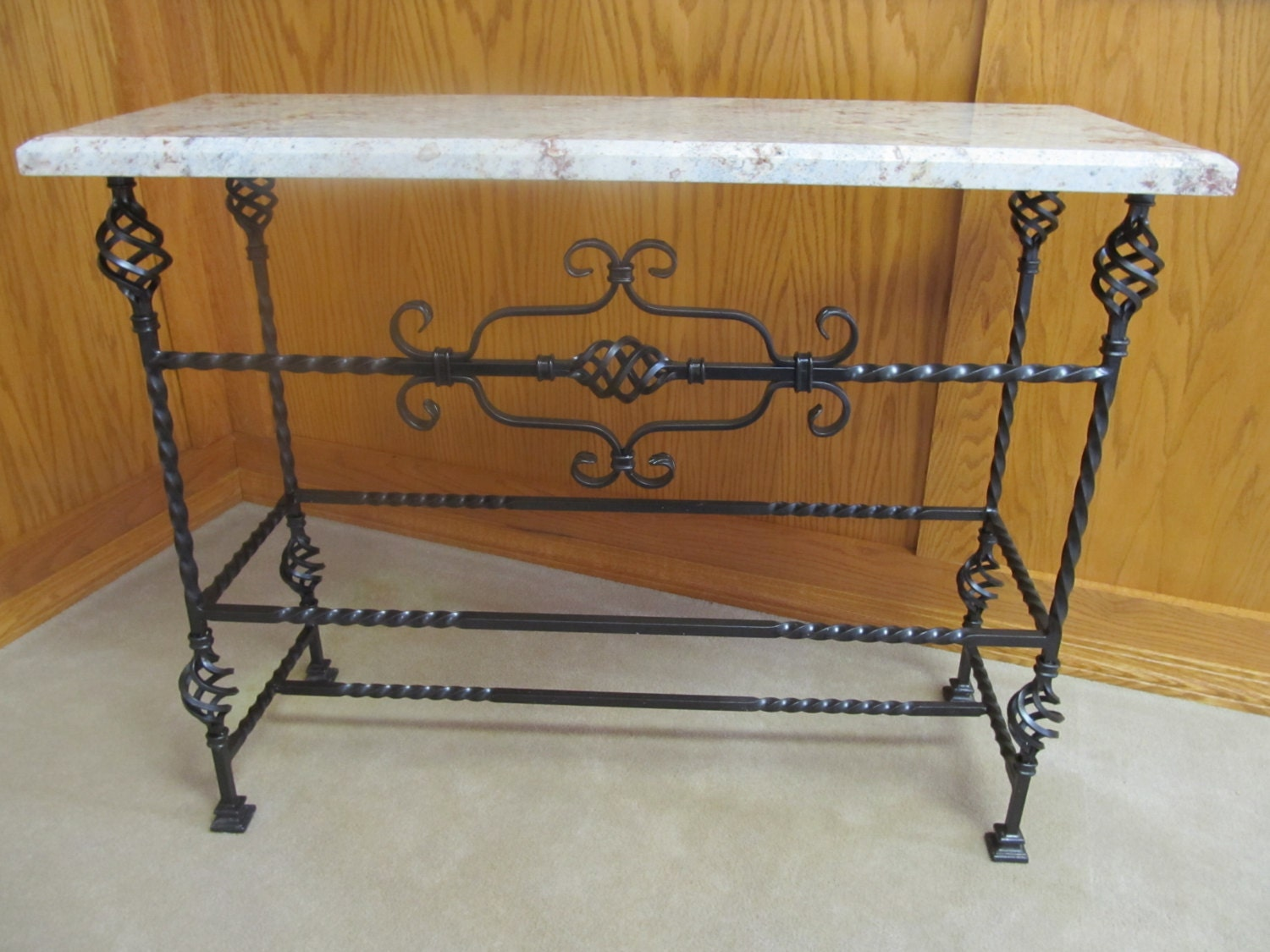 Foyer Table With Granite Top : White spring granite table ornamental steel sofa by