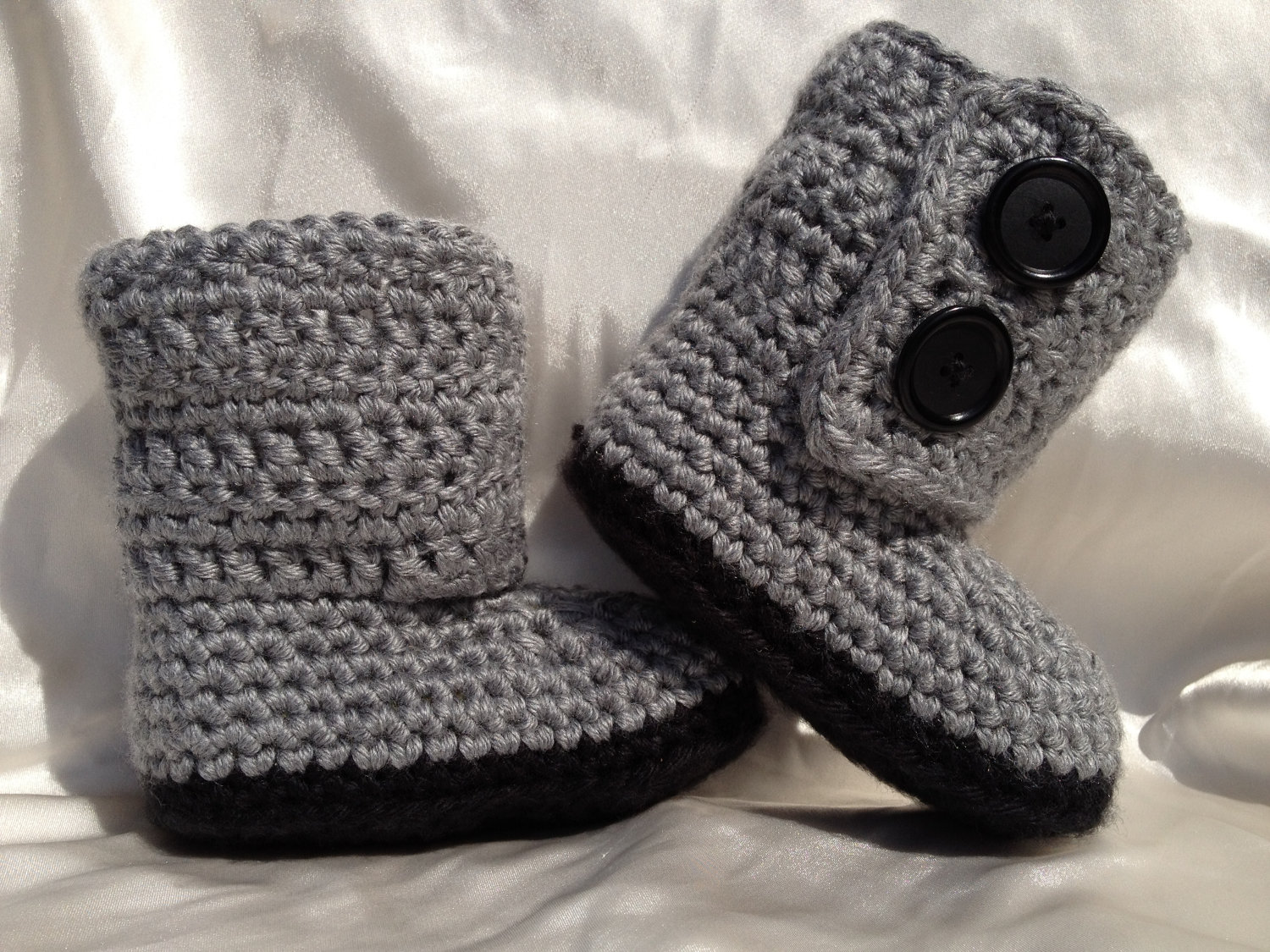 Baby Boy UGG Inspired Boots- Grey Boots