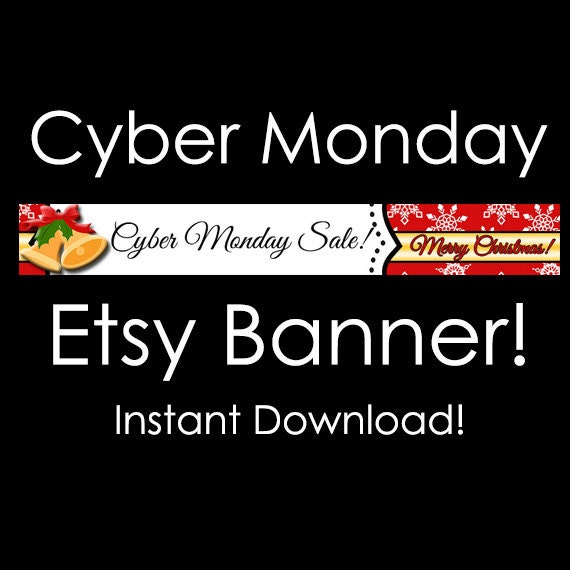 items similar to cyber monday etsy banner instant
