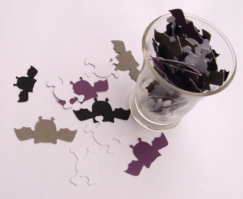 Bats & Skull Confetti