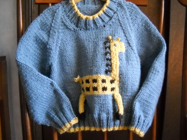 Giraffe Knitting Pattern Jumper : Unavailable Listing on Etsy