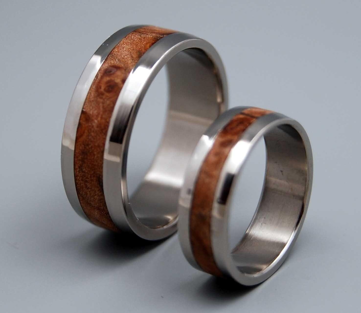 montpelier wooden wedding rings by minterandrichterdes on etsy