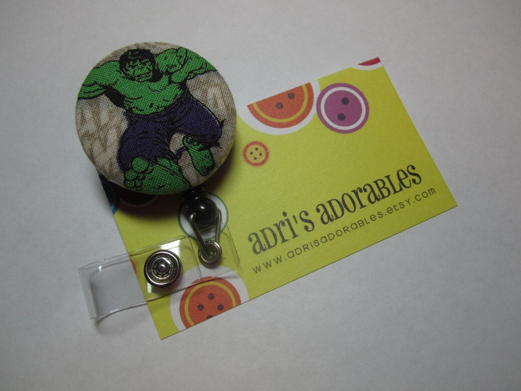 Retractable Badge Reel - Marvel Comics - The Hulk - The Avengers - X Men - Security Badge Holder - Swivel Alligator Clip