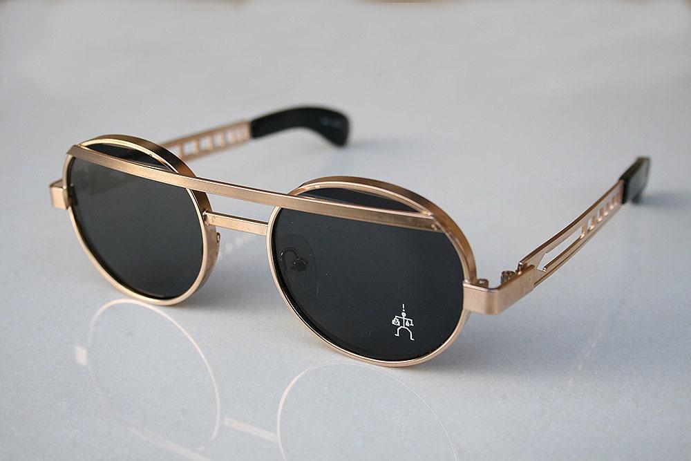 round sunglasses Steampunk sunglasses gold by hitekdesigns ...