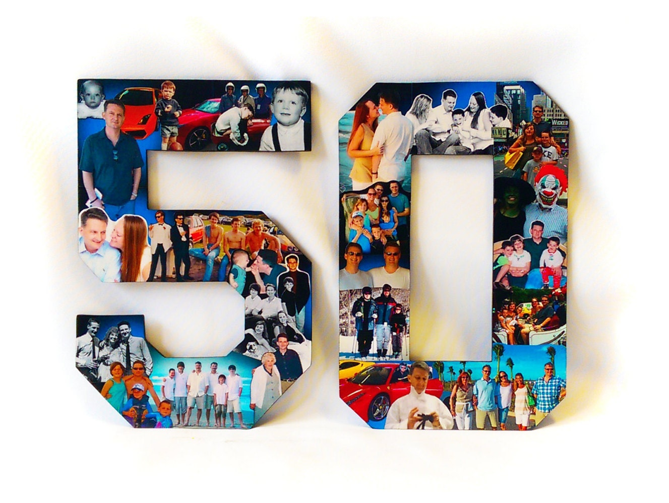 50th anniversary photo collage Personalised Photo Frames.uk