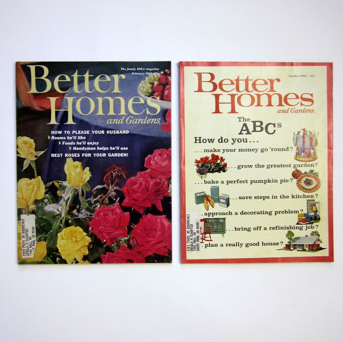 Better Homes And Gardens Magazine 1962 2 Issues By