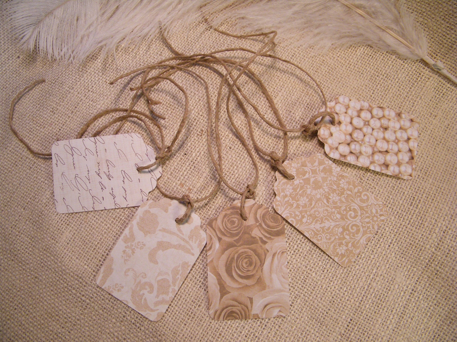 15Vintage Wedding Gift Tags With UNATTACHED twineIvory and White ...