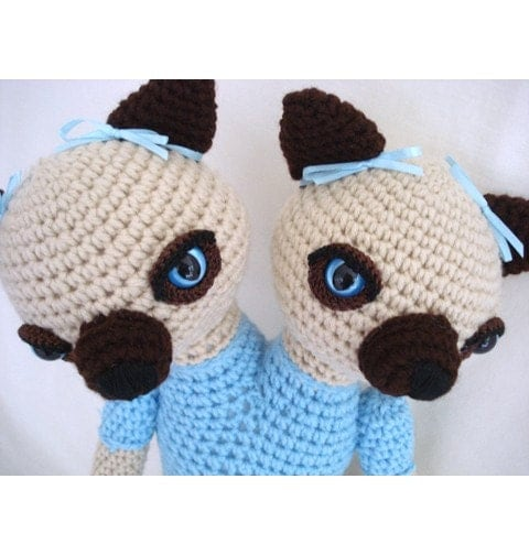 Siamese Cats Siamese Twins Amigurumi Crochet Animal by ...