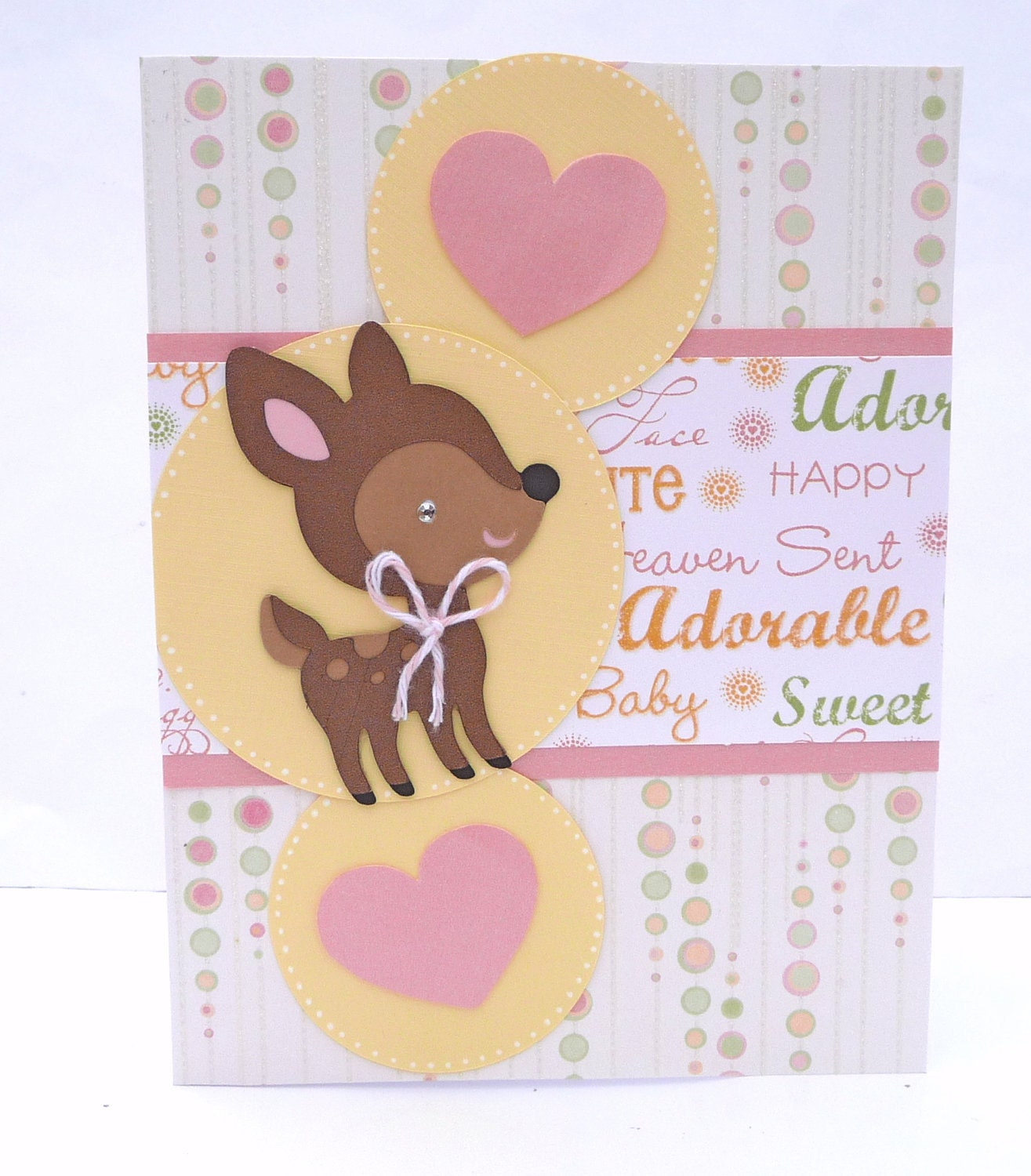 baby congratulations greeting card baby shower card by sophienme