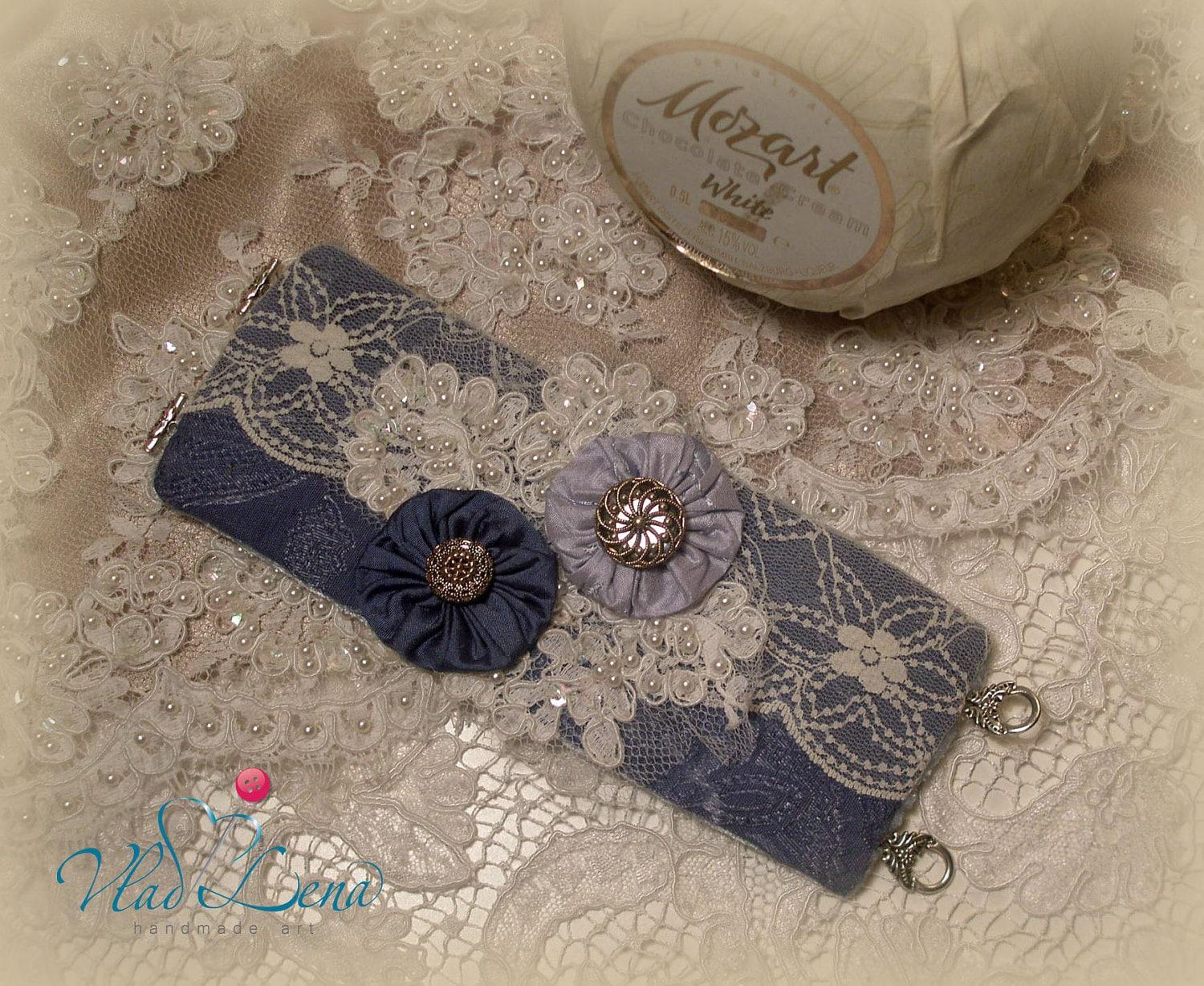 МОЦАРТ (2) Vintage браслет манжеты Ткань