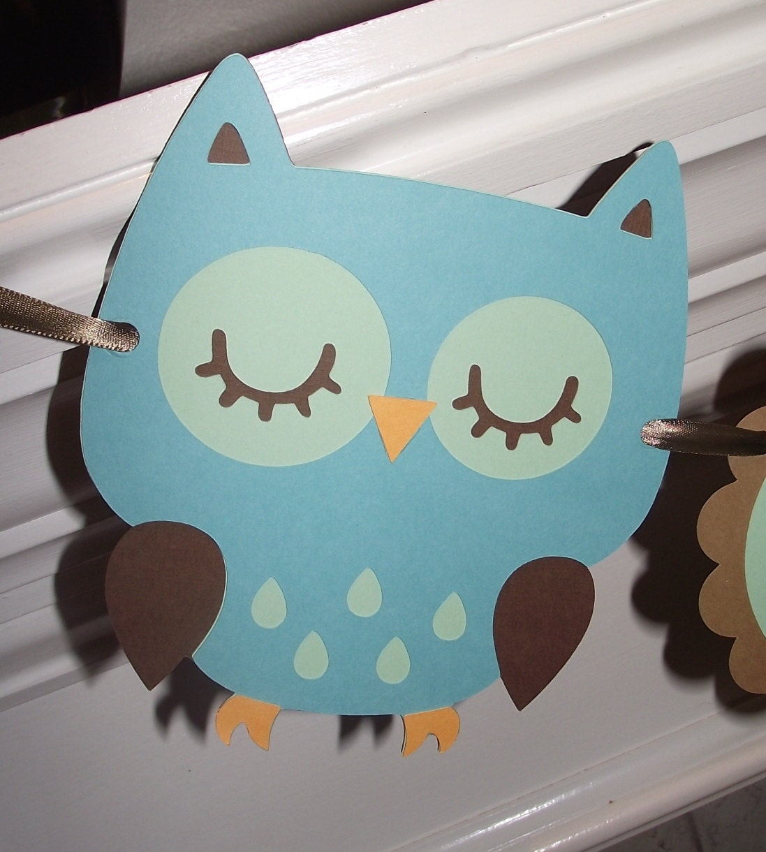 Baby boy owl banner hayley wise owl by creativepartybanners for Baby owl decoration