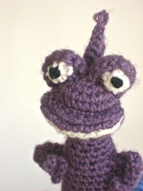 Amigurumi Monsters Inc : Amigurumi Randall Boggs from Monsters Inc por BelleAmiCrochet