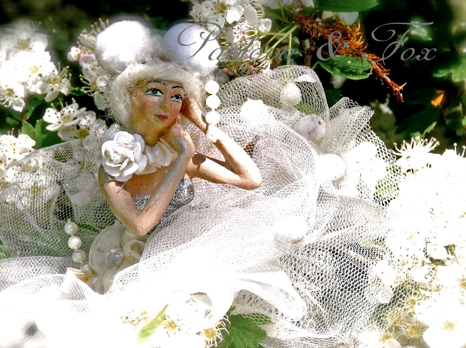 "6"" x 4.5"" photographic print: The May Queen Rests Among Her May Flowers - PavlovaandFox"