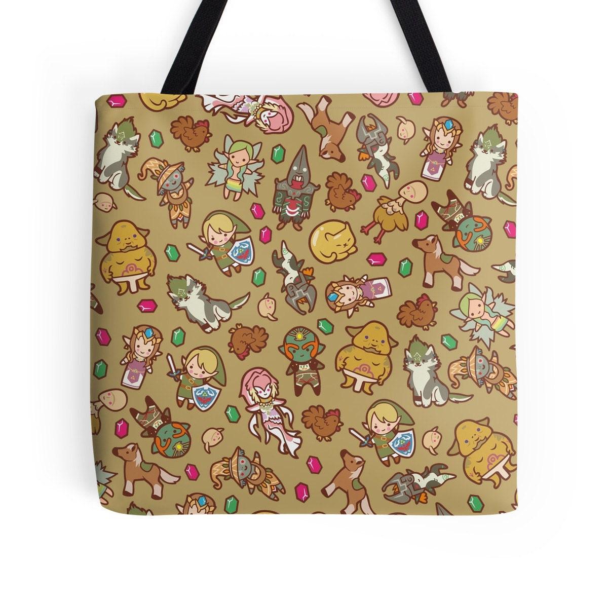 Twilight Princess Pattern  The Legend of Zelda Twilight Princess  Polyester Premium Tote Bag