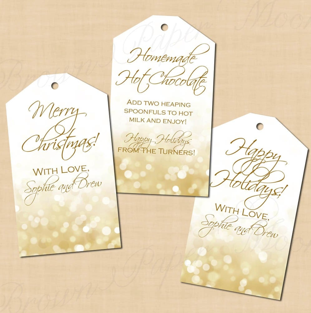items similar to holiday editable white gold sparkles gift
