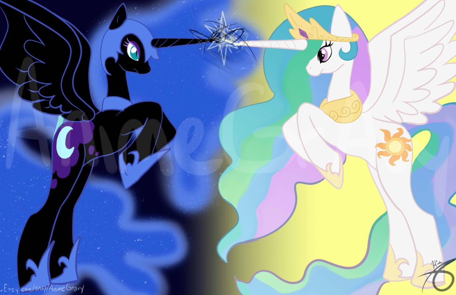 Items similar to My Little Pony Nightmare Moon and ...