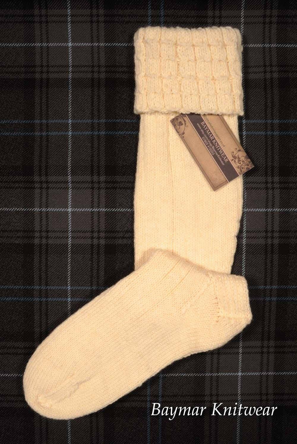 Hand Knitted Kilt Hose  Socks  Made in Scotland  Baymar Knitwear