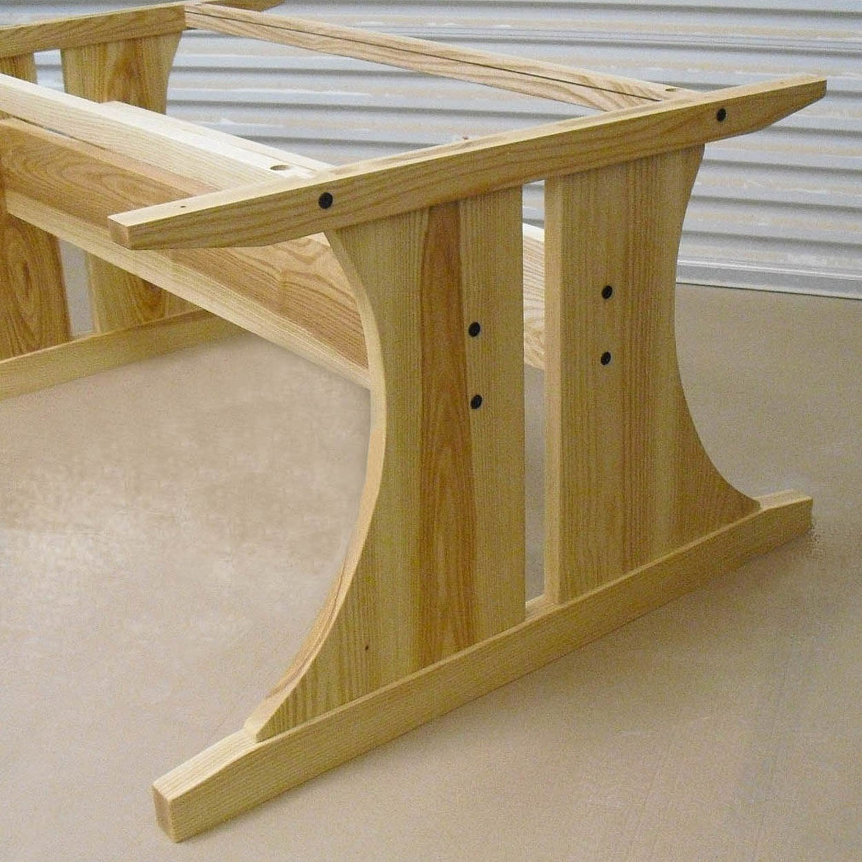 ash dining room trestle table base add your own top. Black Bedroom Furniture Sets. Home Design Ideas