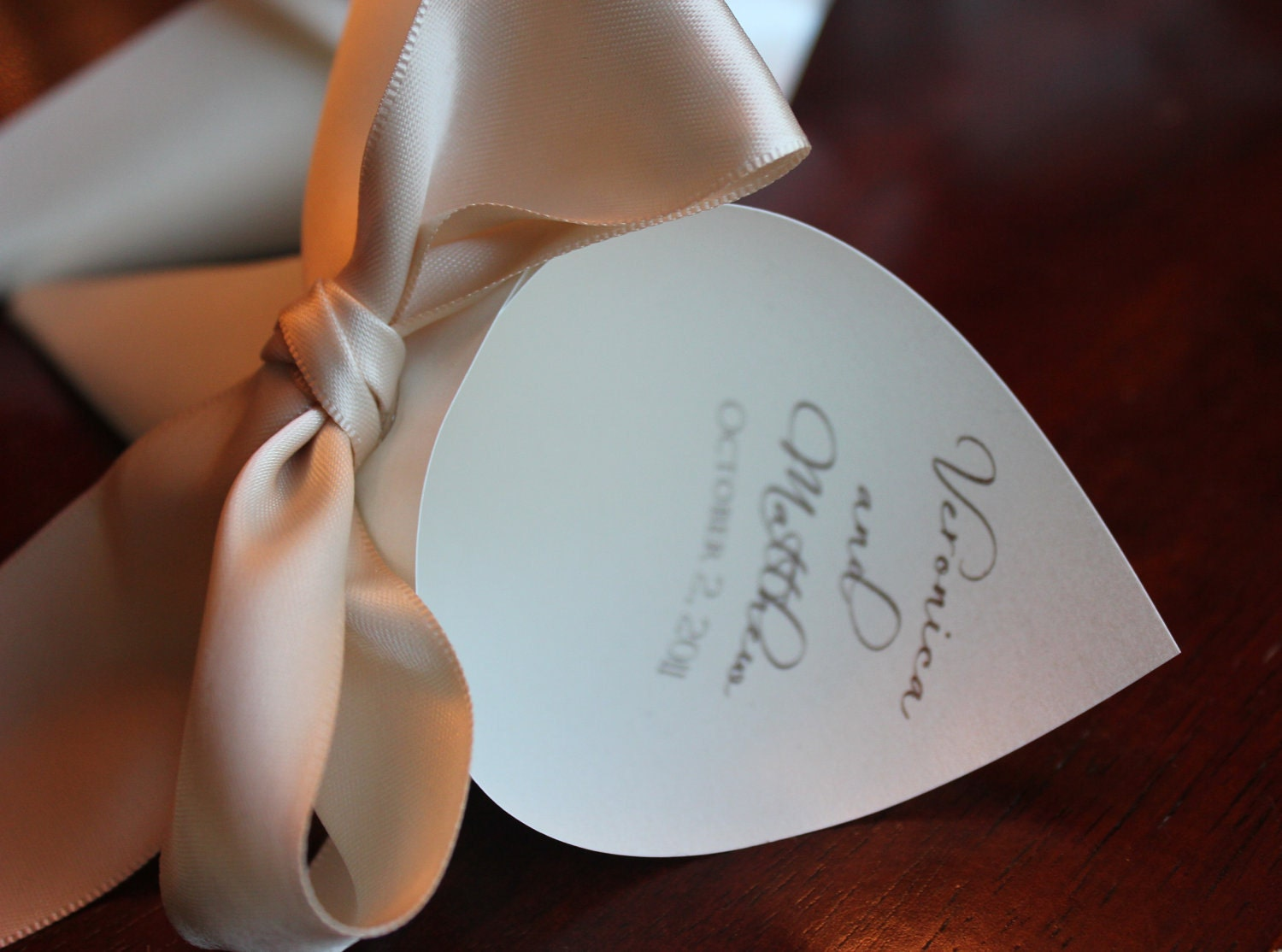 Personalized Petal Cones for Wedding