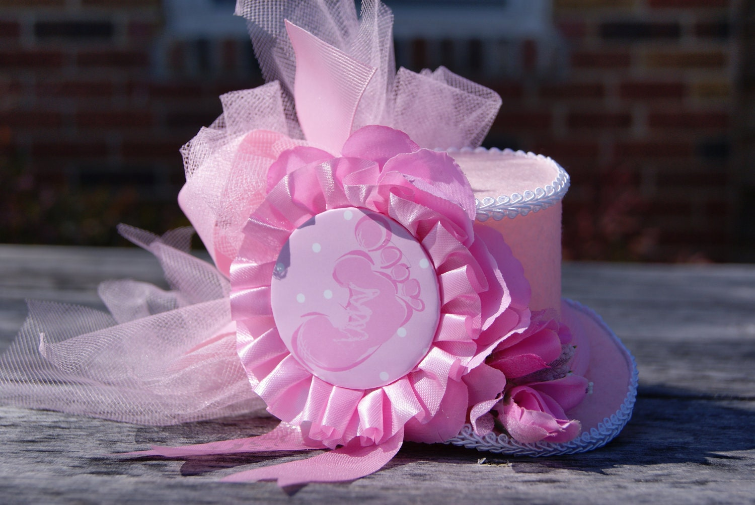 baby shower mini top hat baby blue baby pink baby shower gift