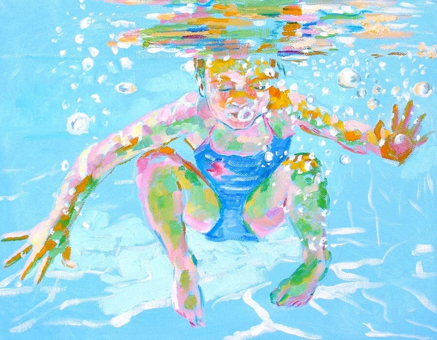 Underwater, print 8x10