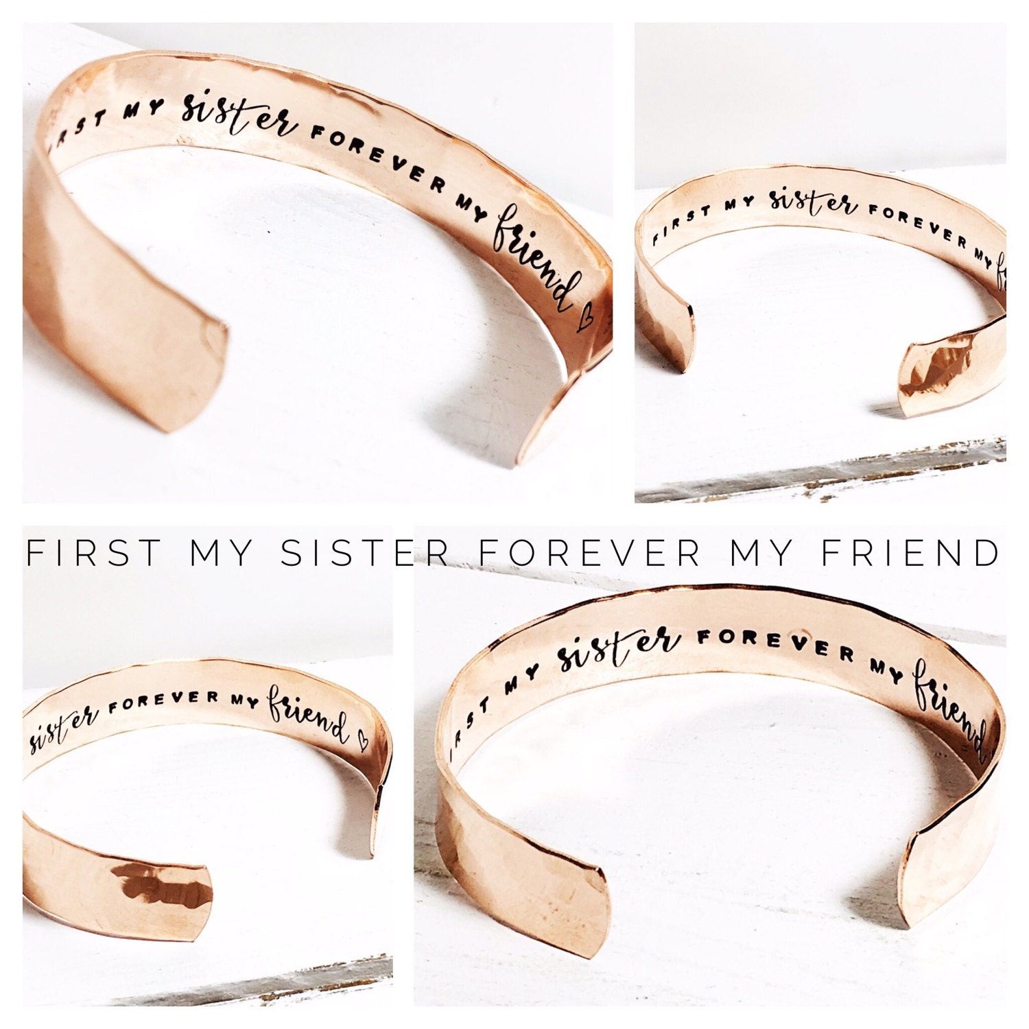 Sister Gift Gift for Sister Sister Gift Ideas Womens Gift First my sister forever my friend Personalised Bracelet Gifts for her (C156)