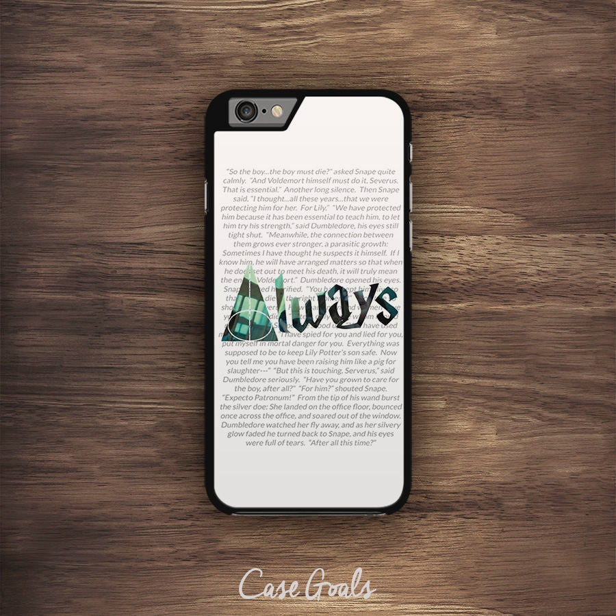Deathly Hollows iPhone Case Always Harry Potter Inspired iPhone Case iPhone 5 Case iPhone 5S Case iPhone 6 Case iPhone 6S Case iPhone 7 Case