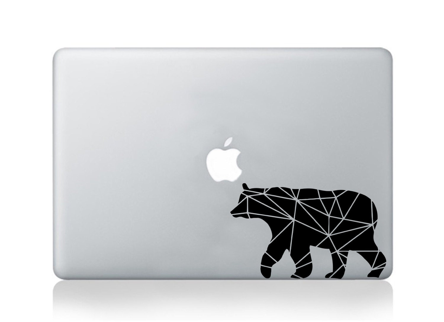 Macbook decal pro air geometrical vinyl sticker bear decal mural transfer graphic art laptop notebook skin Asus HP Toshiba Dell decal