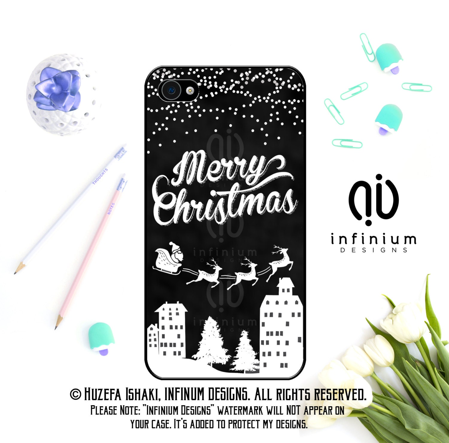 Christmas iPhone Case For iPhone 6S iPhone SE iPhone 5 iPod Touch 6 iPhone 6 Plus iPhone 6 iPhone 5S  iPhone 5C