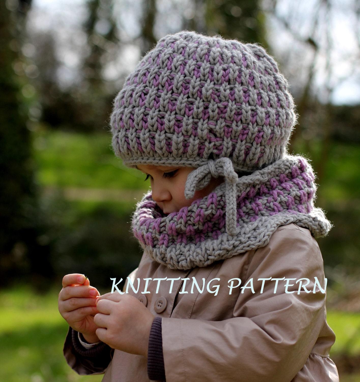 patron tricot bonnet et cache cou brioche set par katytricot. Black Bedroom Furniture Sets. Home Design Ideas