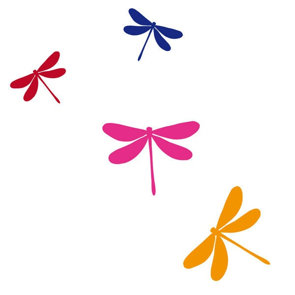 Dragonfly Wall Decal Dragonfly Wall Art Vinyl Wall By