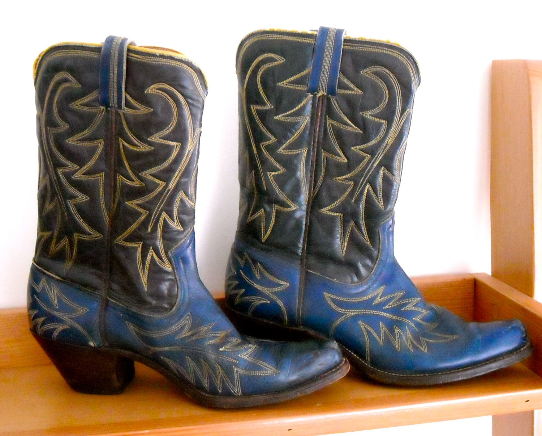 vintage handmade custom cowboy boots by