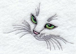 Kitten Face  Embroidered Terry Kitchen Towel  Bathroom
