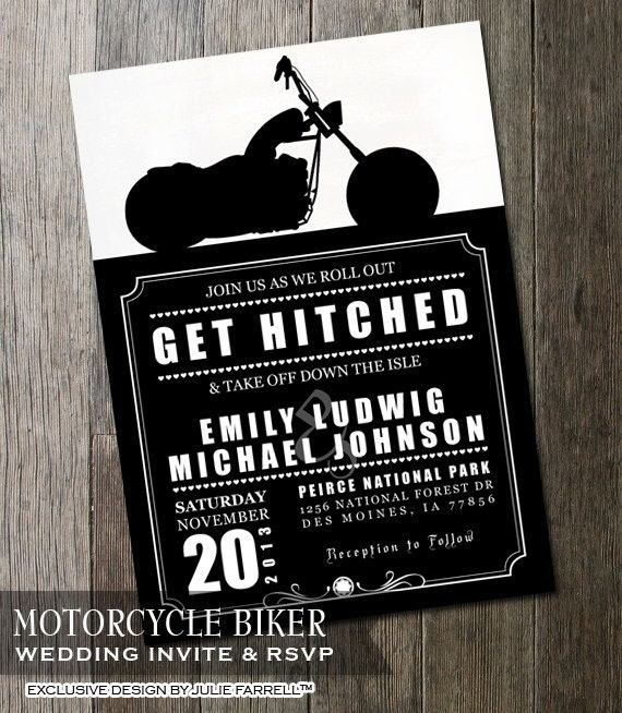 Harley Davidson Wedding Invitations is an amazing ideas you had to choose for invitation design