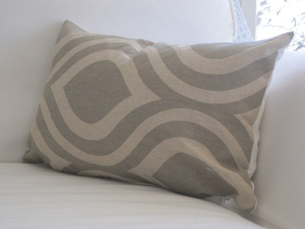 Gray lumbar pillow