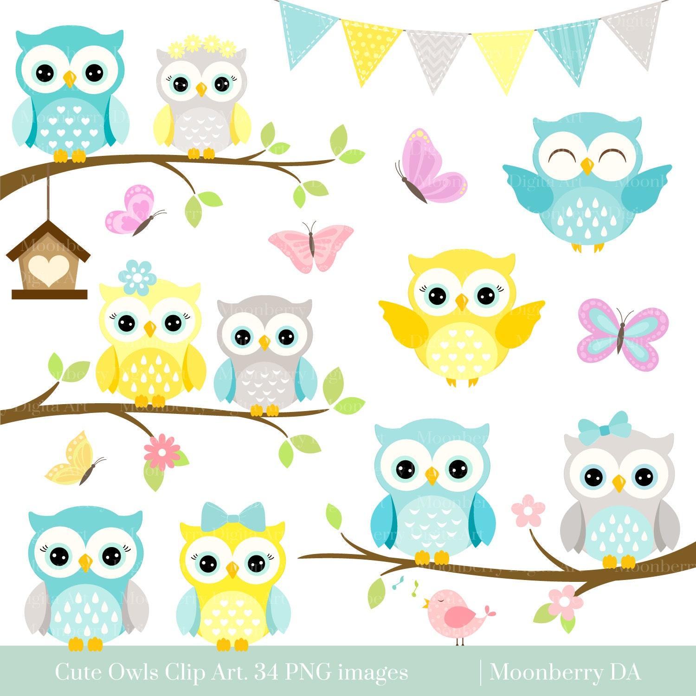 Colorful cute cartoon owl