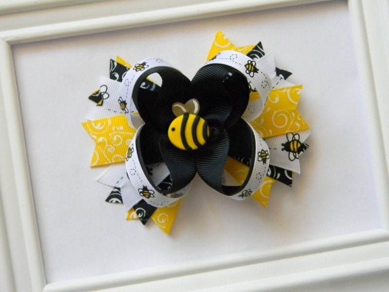 Bumble Bee Boutique Hair Bow - Avabowtiquee
