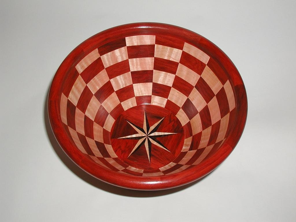 Checkerboard Segmented Bowl - thehandsonwoodworker