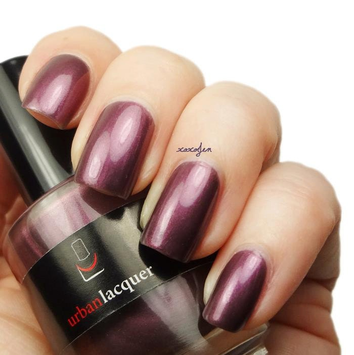 Deep Wine Nail Polish: Drill Down. Shimmery Deep Purple Wine Nail By Urbanlacquer
